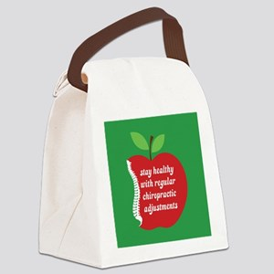 Stay Healthy With Chiro Canvas Lunch Bag