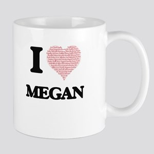 I love Megan (heart made from words) design Mugs