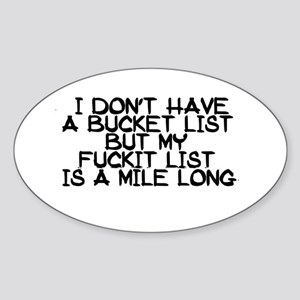 BUCKET LIST HUMOR Sticker