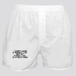 BUCKET LIST HUMOR Boxer Shorts