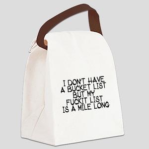 BUCKET LIST HUMOR Canvas Lunch Bag