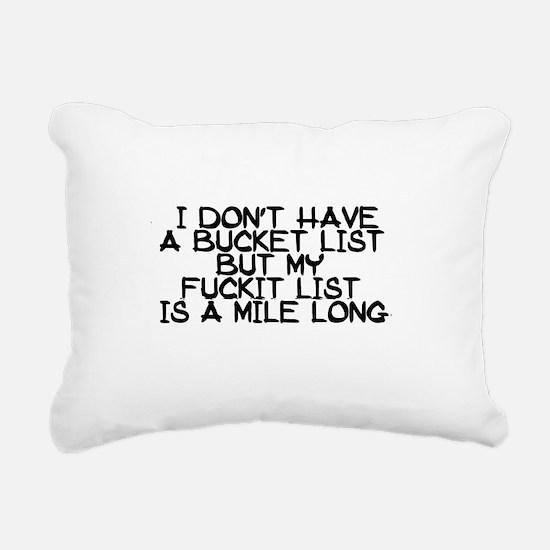 BUCKET LIST HUMOR Rectangular Canvas Pillow