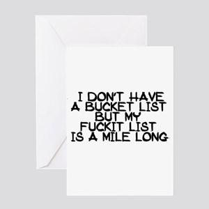 BUCKET LIST HUMOR Greeting Cards