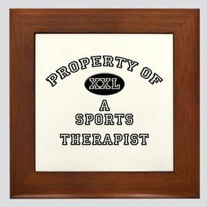 Property of a Sports Therapist Framed Tile