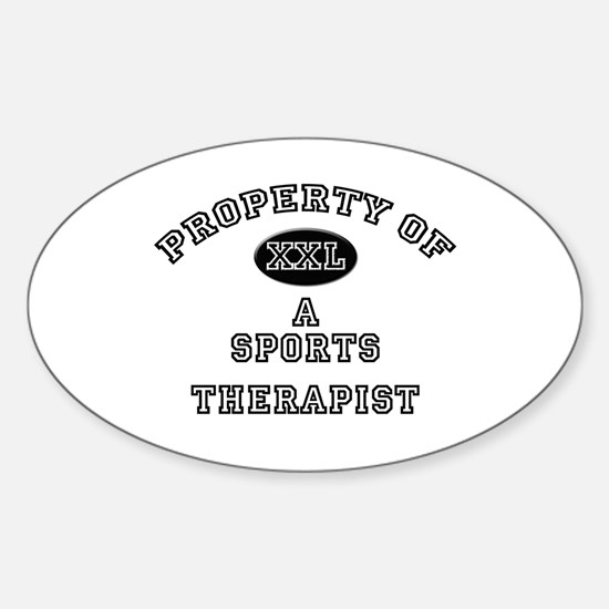 Property of a Sports Therapist Oval Decal