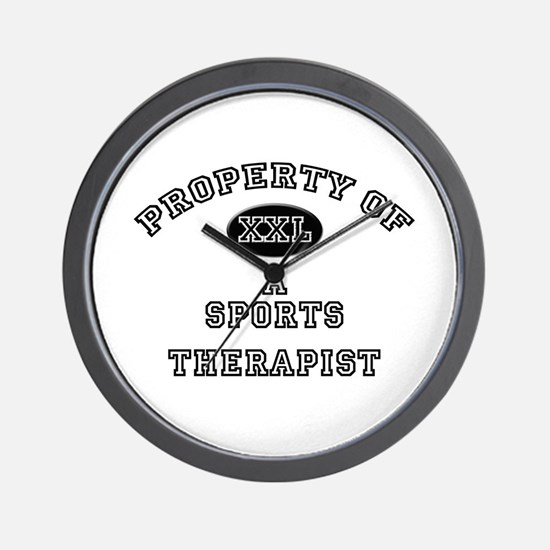 Property of a Sports Therapist Wall Clock