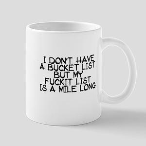 BUCKET LIST HUMOR Mugs