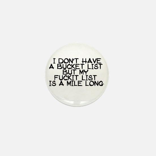 BUCKET LIST HUMOR Mini Button