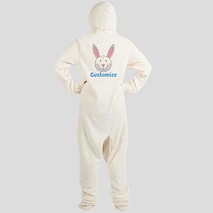 Custom Easter Bunny Footed Pajamas