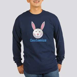 Custom Easter Bunny Long Sleeve Dark T-Shirt