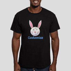 Custom Easter Bunny Men's Fitted T-Shirt (dark)