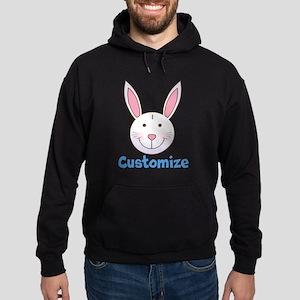 Custom Easter Bunny Hoodie (dark)
