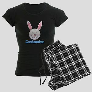Custom Easter Bunny Women's Dark Pajamas