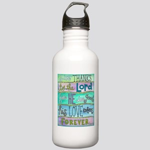 Give Thanks To The Lord Water Bottle