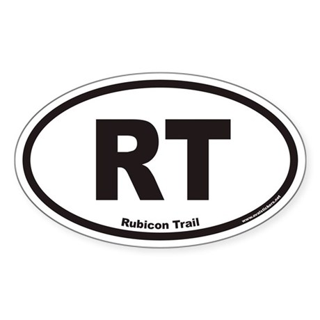 Rubicon Trail RT Euro Oval Sticker
