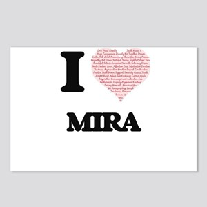 I love Mira (heart made f Postcards (Package of 8)