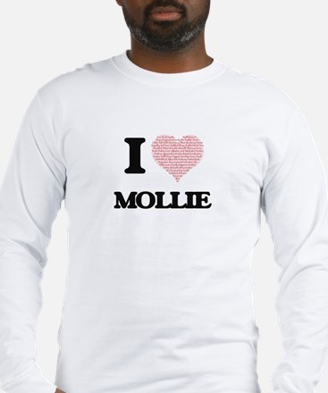 I love Mollie (heart made from Long Sleeve T-Shirt