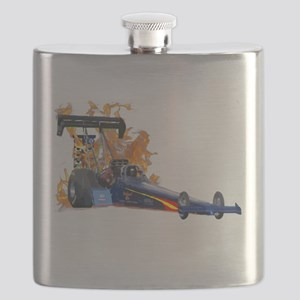 Flaming Top Fuel Flask