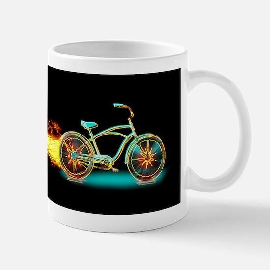 Bike flame blue Mugs