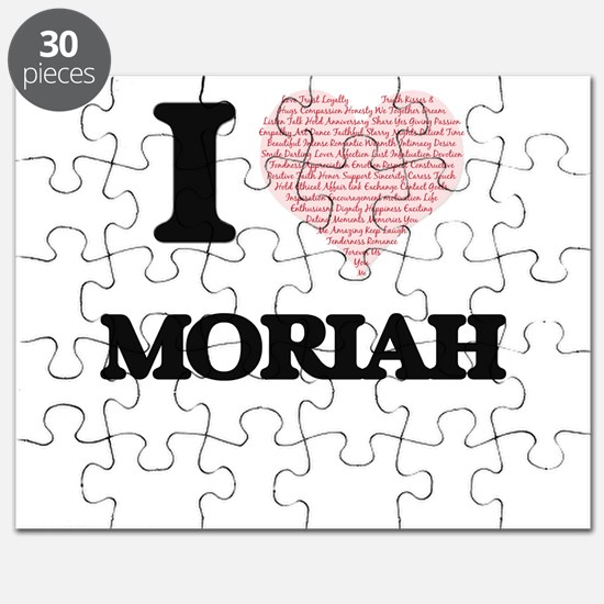 I love Moriah (heart made from words) desig Puzzle