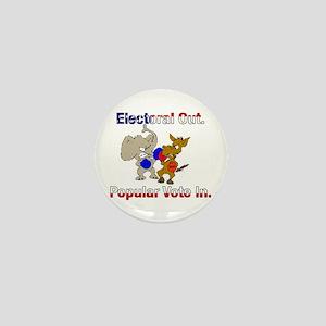 Electoral Out. Popular Vote In. Mini Button