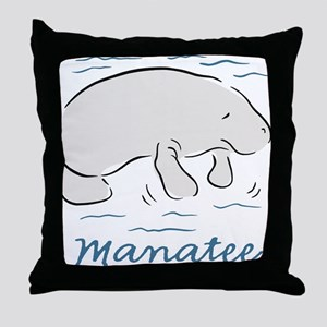 Manatee Throw Pillow