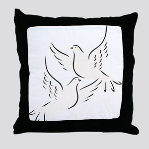 White Doves Throw Pillow
