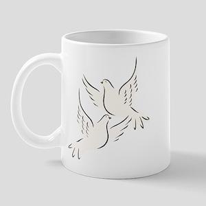 White Doves Mug