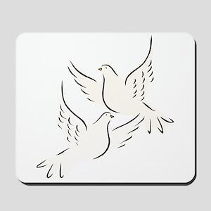 White Doves Mousepad