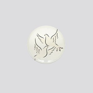 White Doves Mini Button
