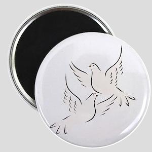 White Doves Magnet