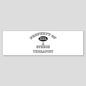 Property of a Speech Therapist Bumper Sticker