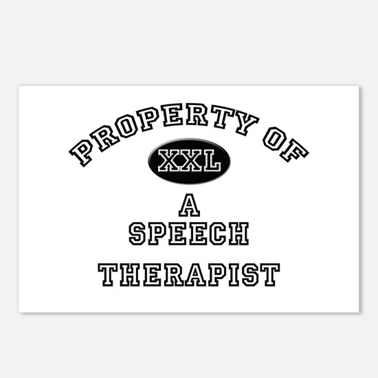 Property of a Speech Therapist Postcards (Package