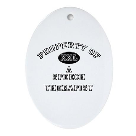 Property of a Speech Therapist Oval Ornament