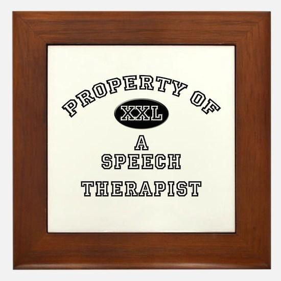 Property of a Speech Therapist Framed Tile