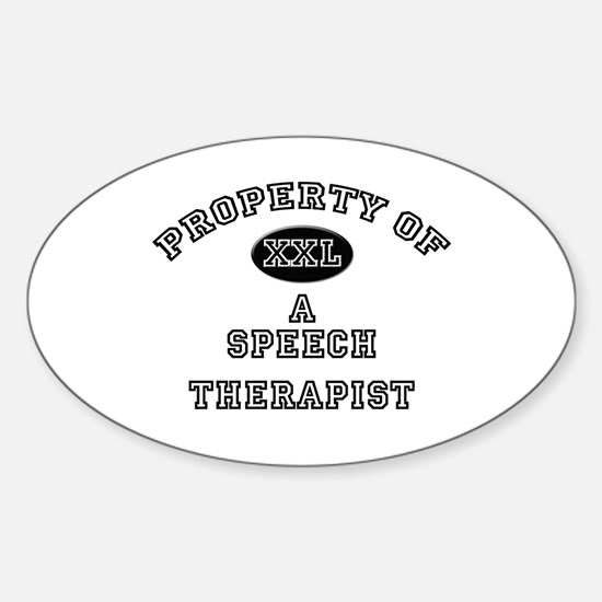 Property of a Speech Therapist Oval Decal