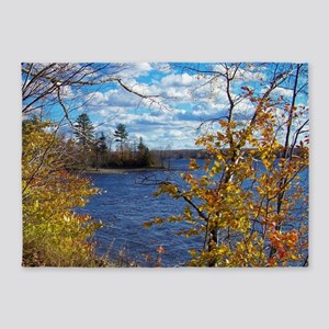 Scenic Lake View 5'x7'Area Rug