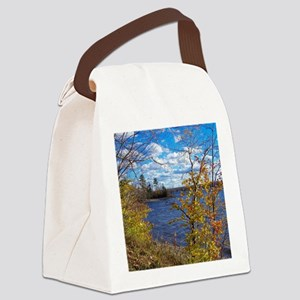 Scenic Lake View Canvas Lunch Bag
