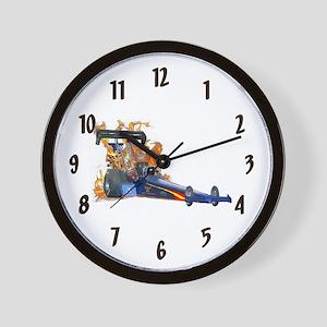 Flaming Top Fuel Wall Clock