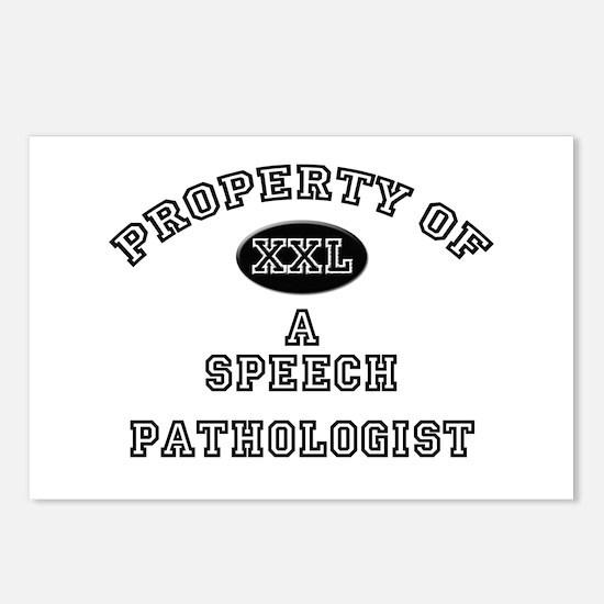 Property of a Speech Pathologist Postcards (Packag