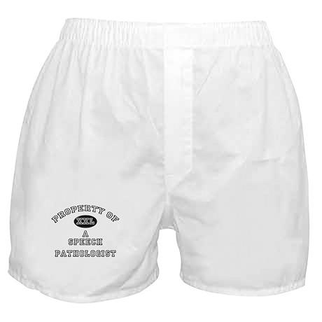 Property of a Speech Pathologist Boxer Shorts