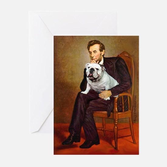 Lincoln's English Bulldog Greeting Cards (Pk of 10