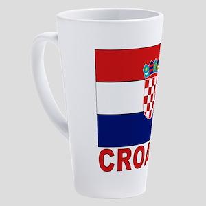 croatia_b 17 oz Latte Mug