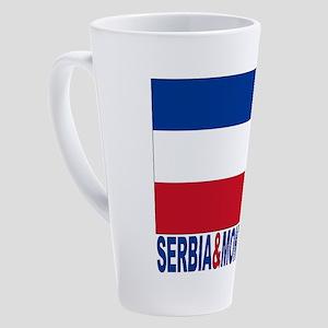 serbia-and-montenegro_b 17 oz Latte Mug