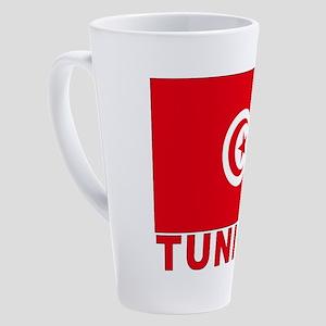 tunisia_b 17 oz Latte Mug