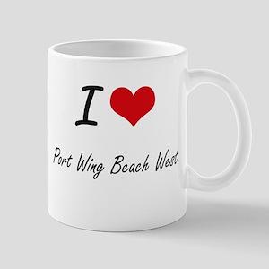 I love Port Wing Beach West Wisconsin artist Mugs