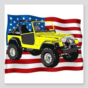 """Patriotic CJ Square Car Magnet 3"""" x 3"""""""