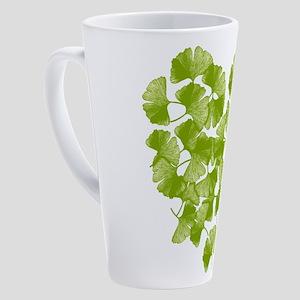 Ginkgo Leaf Heart 17 oz Latte Mug