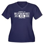 OES Women's Plus Size V-Neck Dark T-Shirt
