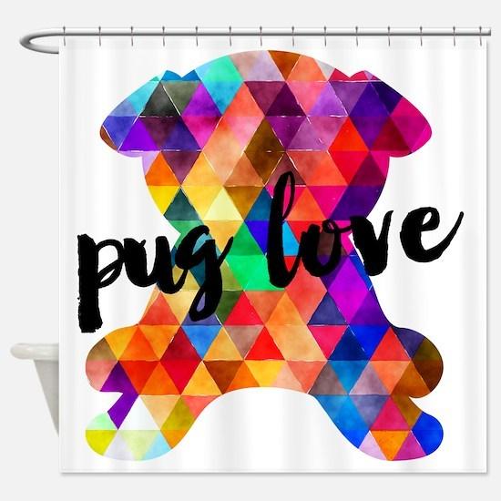 Cute Pug or pugs Shower Curtain